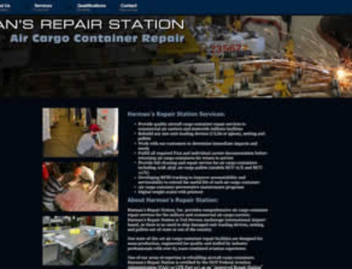 Harman's Repair Station Website Re-design