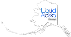 Alaska Website Design – LiquidAlaska – Anchorage Logo