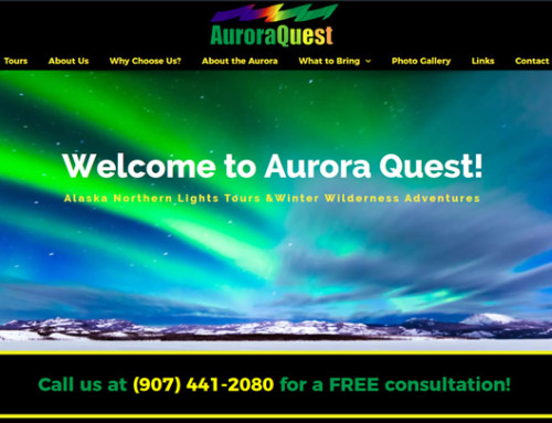 Launched New Aurora Borealis Website in Healy, Alaska